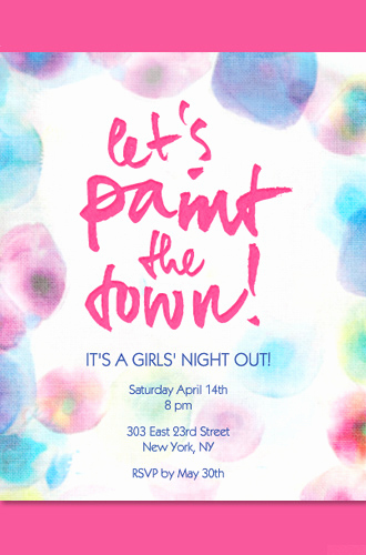Girls Night Out Invitation Inspirational Girls Night Invitation Ideas Evite