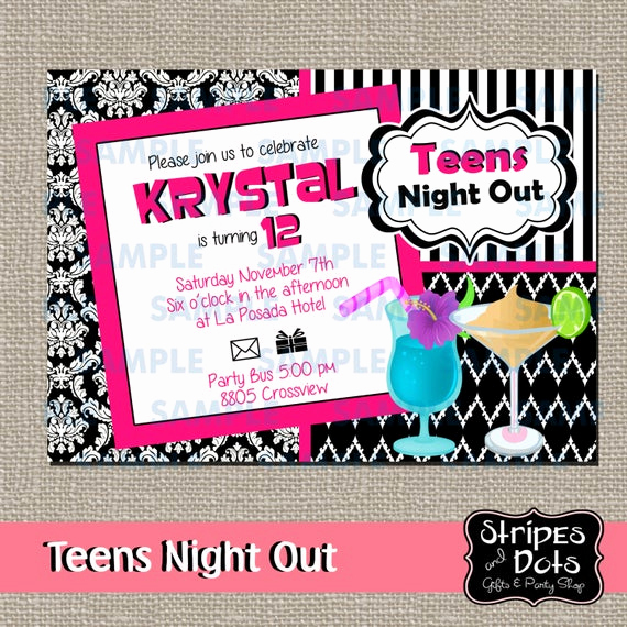 Girls Night Out Invitation Inspirational Girls Night Out Invitation Teens Night Out