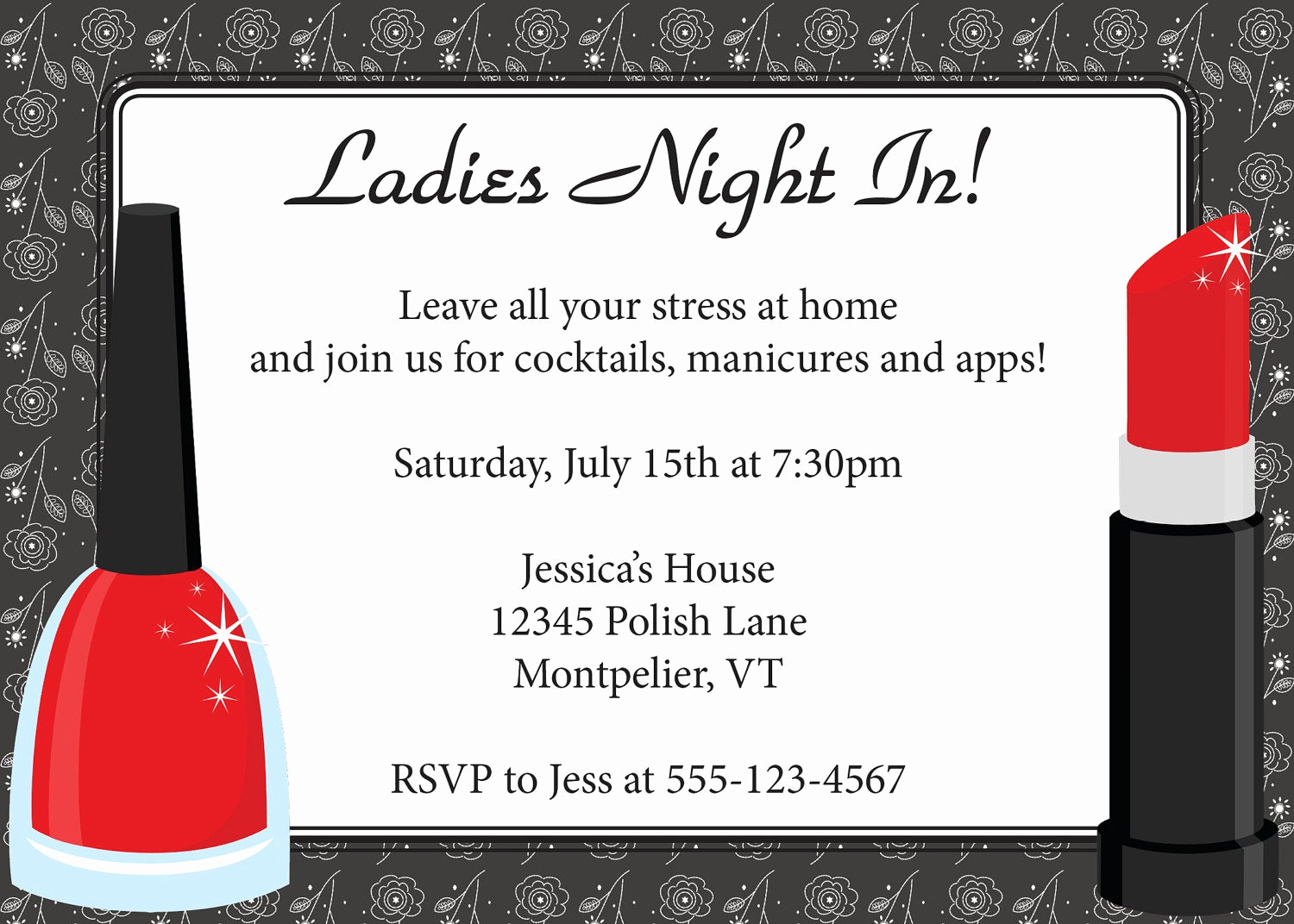Girls Night Out Invitation Inspirational La S Night Invitation Diy Printable La S by