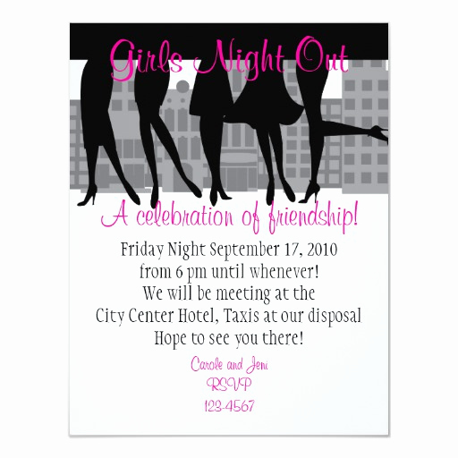 Girls Night Out Invitation New Girls Night Out Card
