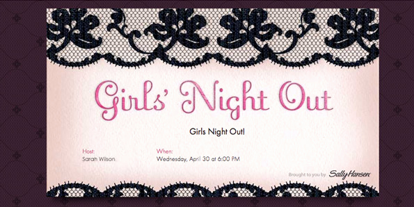 Girls Night Out Invitation New Girls Night Out Style Evite