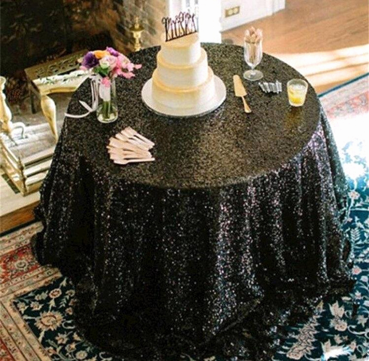 Glamorous Party Invitation Wow Unique Sale Black Sequin Tablecloth Table Runner Table