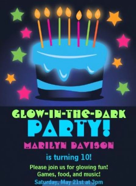 Glow Party Invitation Ideas Fresh 15 Glow In the Dark Party Ideas B Lovely events