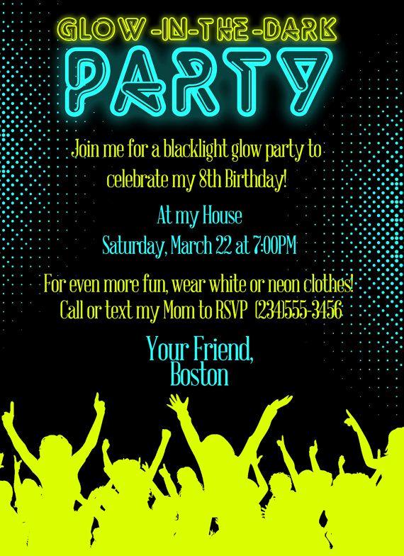 Glow Party Invitation Ideas Fresh Best 25 Neon Party Invitations Ideas On Pinterest