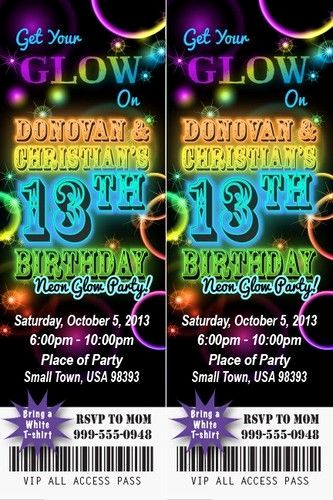 Glow Party Invitation Ideas Inspirational Party Glow Party Invitations as Your Ideas Amplifyer for