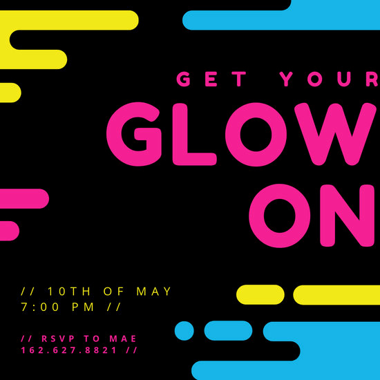 Glow Party Invitation Template Awesome Customize 2 892 Party Invitation Templates Online Canva