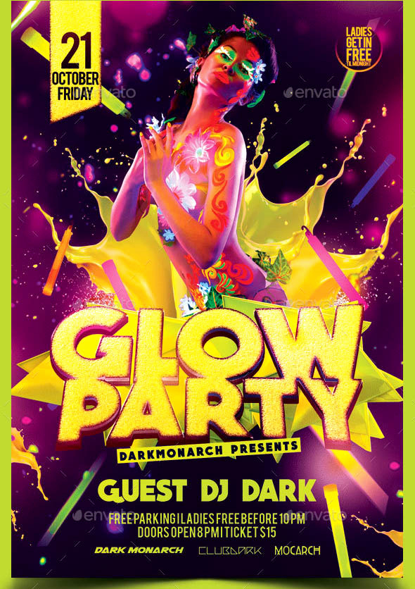 Glow Party Invitation Template Elegant 40 Beautiful Glow Flyer Templates – Desiznworld