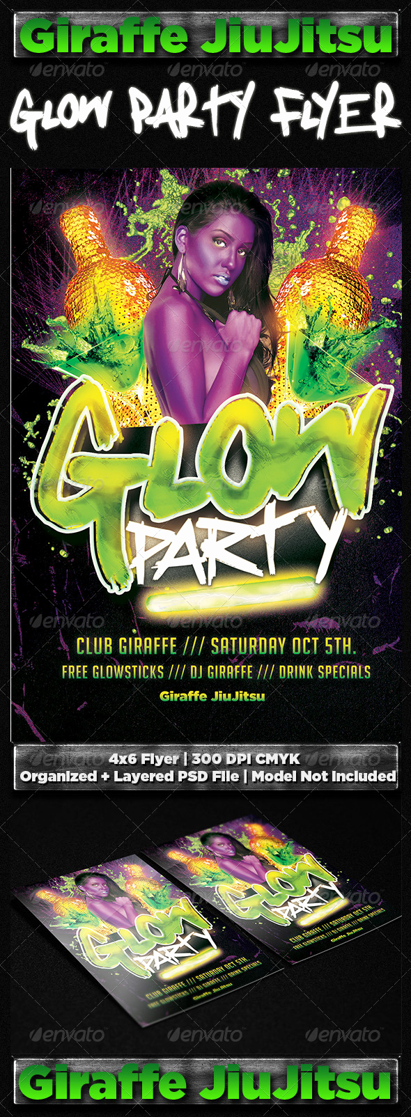 Glow Party Invitation Template Elegant Free Glow In the Dark Party Invitations Tinkytyler