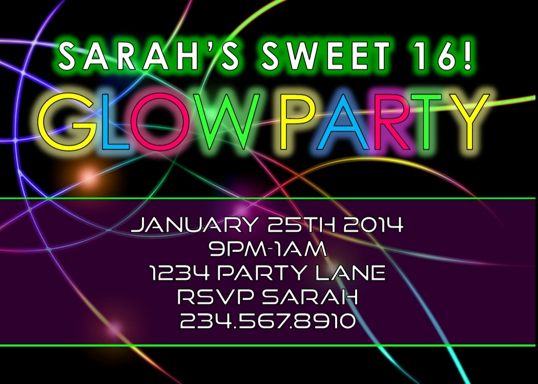 Glow Party Invitation Template Free Beautiful Awesome Glow Party Ideas and Neon Party Games