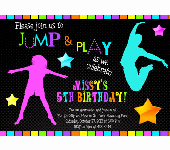 Glow Party Invitation Template Free Beautiful Free Printable Glow In the Dark Birthday Invitations