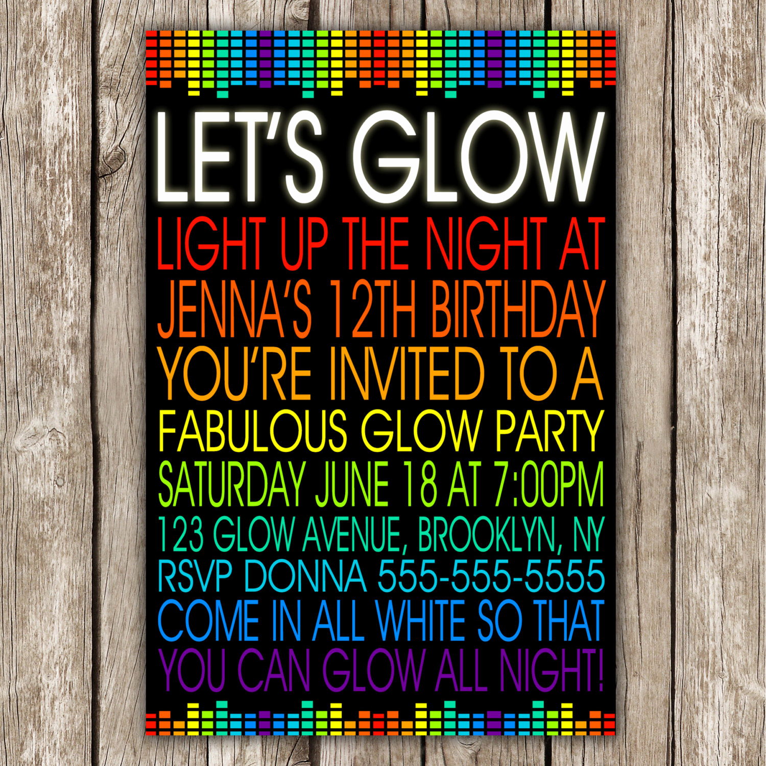 Glow Party Invitation Template Free Best Of Let S Glow Invitation 80s Birthday Party Neon Party