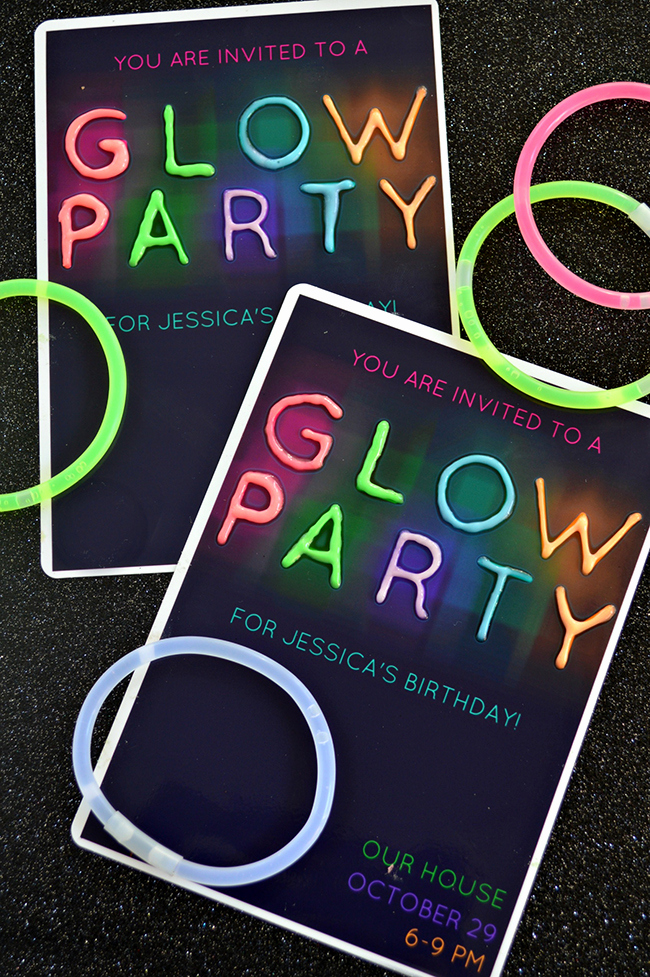 Glow Party Invitation Template Free Lovely Glow In the Dark Party Invitations Myprintly