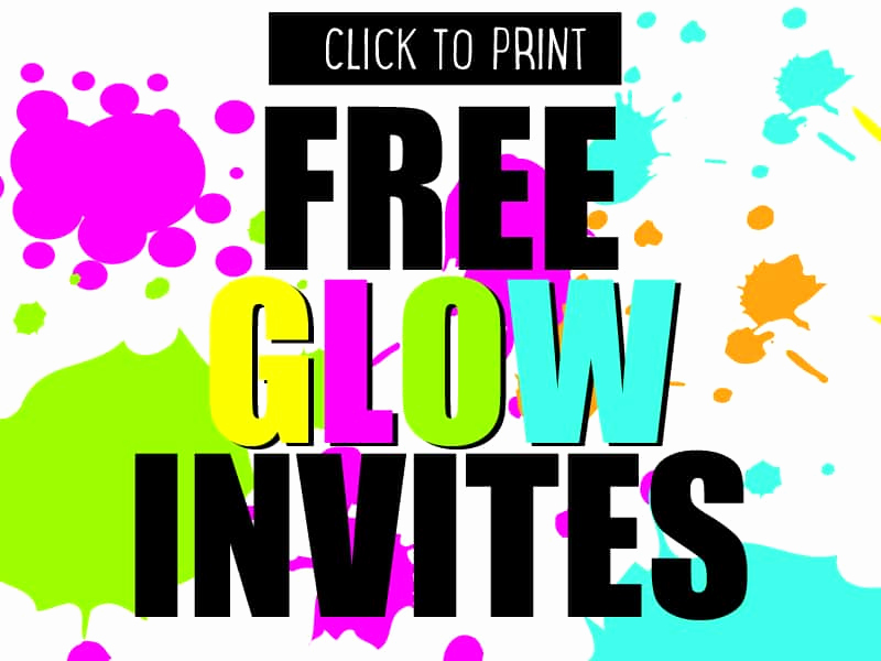 Glow Party Invitation Template Free Luxury Diy Glow Party Invites to and Print for Free