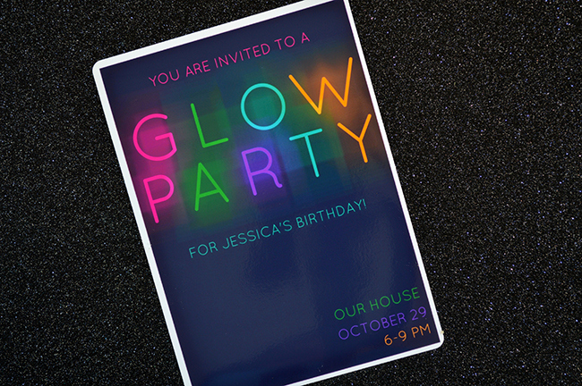 Glow Party Invitation Template Free New Glow In the Dark Party Invitations Myprintly