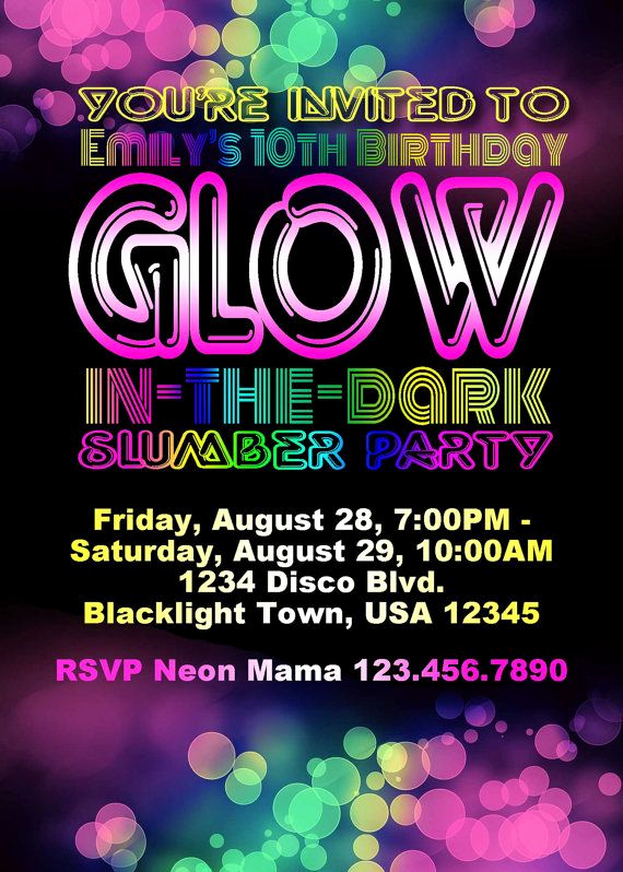 Glow Party Invitation Template Free Unique Best 25 Neon Party Invitations Ideas On Pinterest