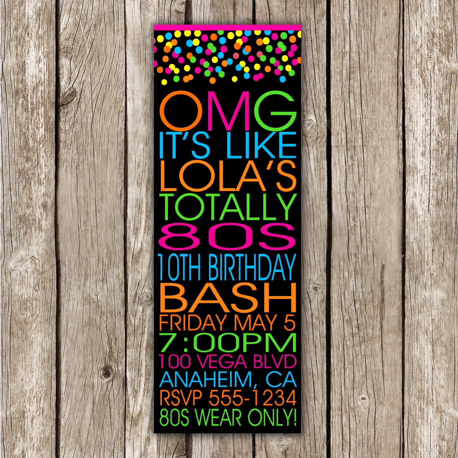 Glow Party Invitation Template Fresh 80s Invitation Dance Party Glow Party Save the Date