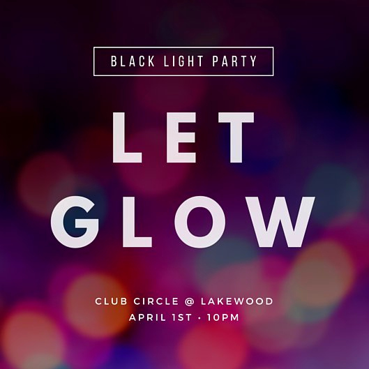 Glow Party Invitation Template Inspirational Party Invitation Templates Canva