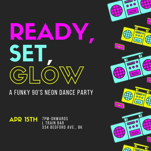 Glow Party Invitation Template New Customize 2 892 Kids Party Invitation Templates Online