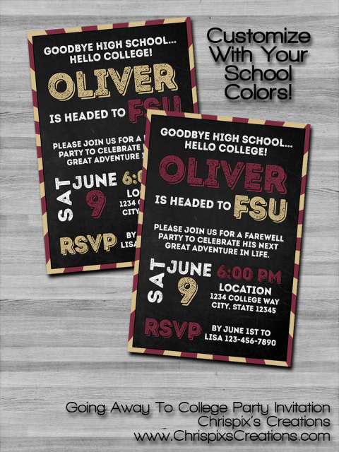 Going Away Invitation Template Beautiful Going Away to College Party Invitation