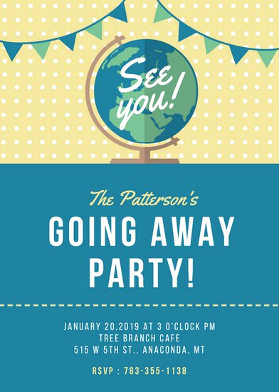 Going Away Invitation Template Best Of Farewell Party Invitation Templates Canva