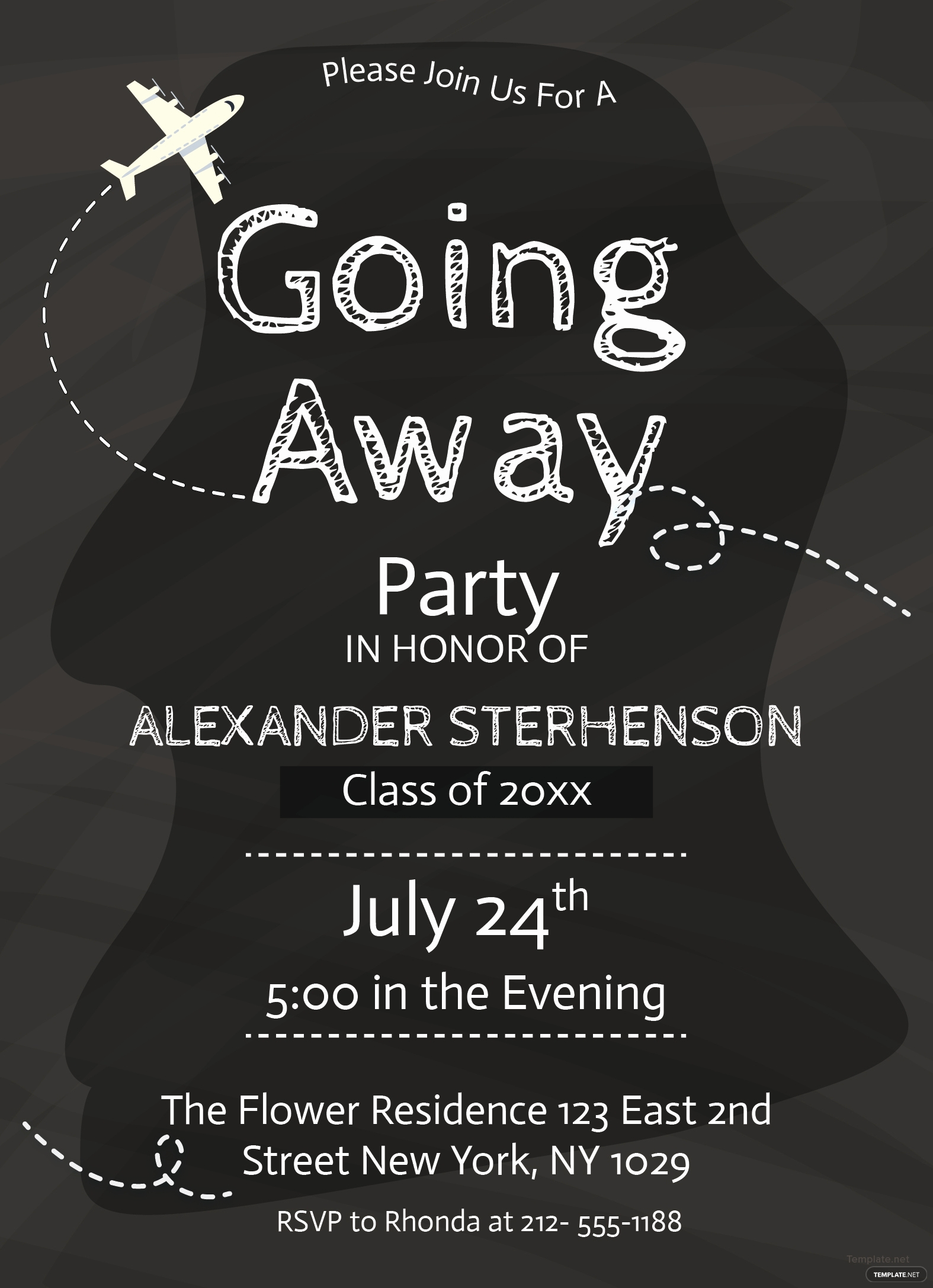 Going Away Invitation Template Fresh Free Printable Going Away Party Invitation Template In