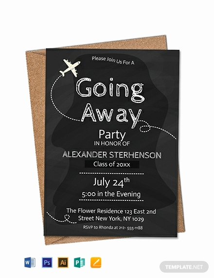 Going Away Invitation Template Fresh Free Printable Going Away Party Invitation Template