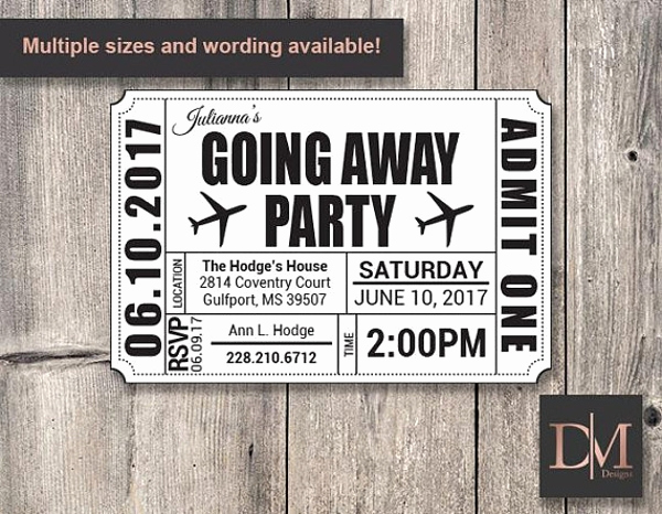Going Away Invitation Template Inspirational 14 Going Away Party Flyer Designs & Templates Psd Ai