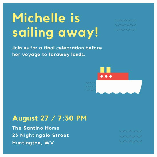 Going Away Invitation Template Inspirational Customize 2 841 Farewell Party Invitation Templates