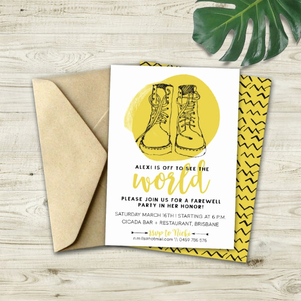 Going Away Invitation Template New 13 Going Away Party Invitation Designs & Templates Psd
