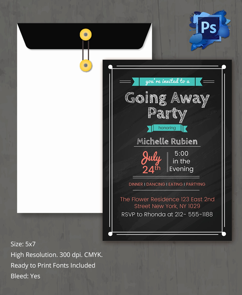 Going Away Invitation Template New Farewell Party Invitation Template 26 Free Psd format