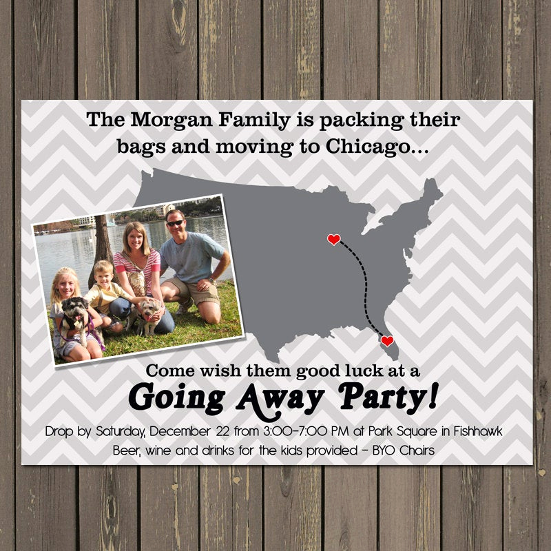 Going Away Party Invitation Awesome Going Away Party Invitation Moving Farewell Party Invitation