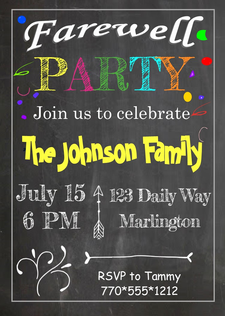 Going Away Party Invitation Awesome Going Away Party Invitations New Selections Summer 2019