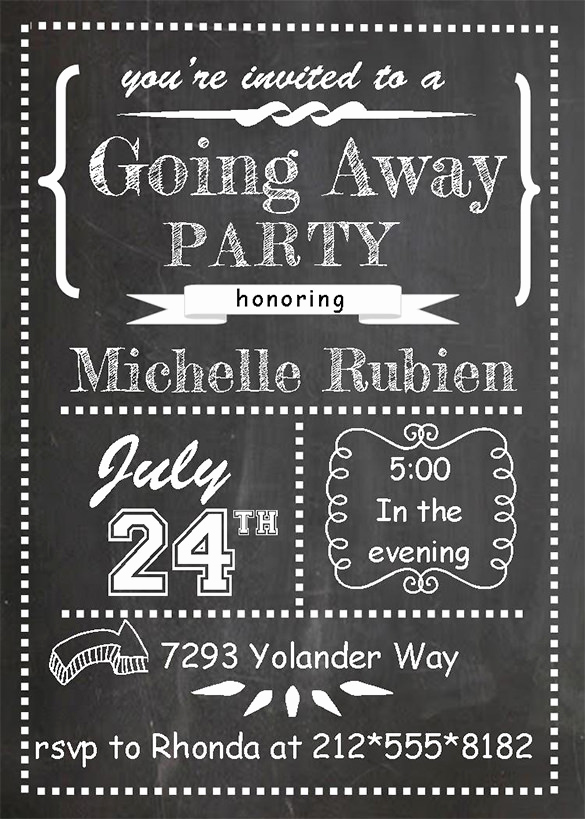 Going Away Party Invitation Best Of Farewell Party Invitation Template 29 Free Psd format
