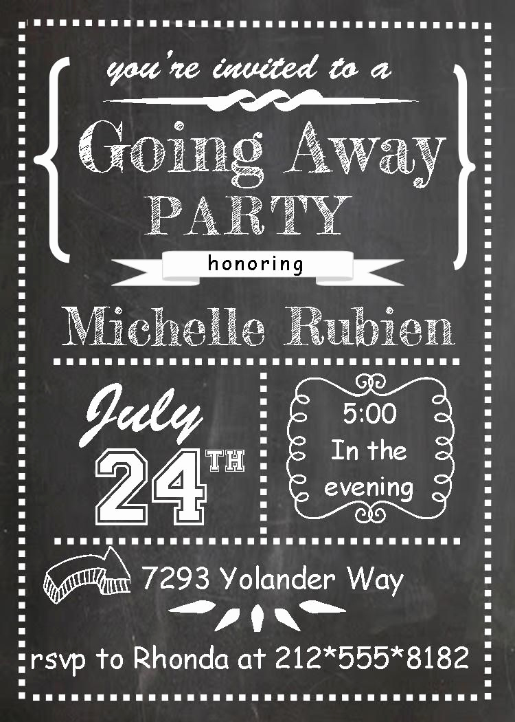 Going Away Party Invitation Best Of Going Away Party Invitations Fall 2014