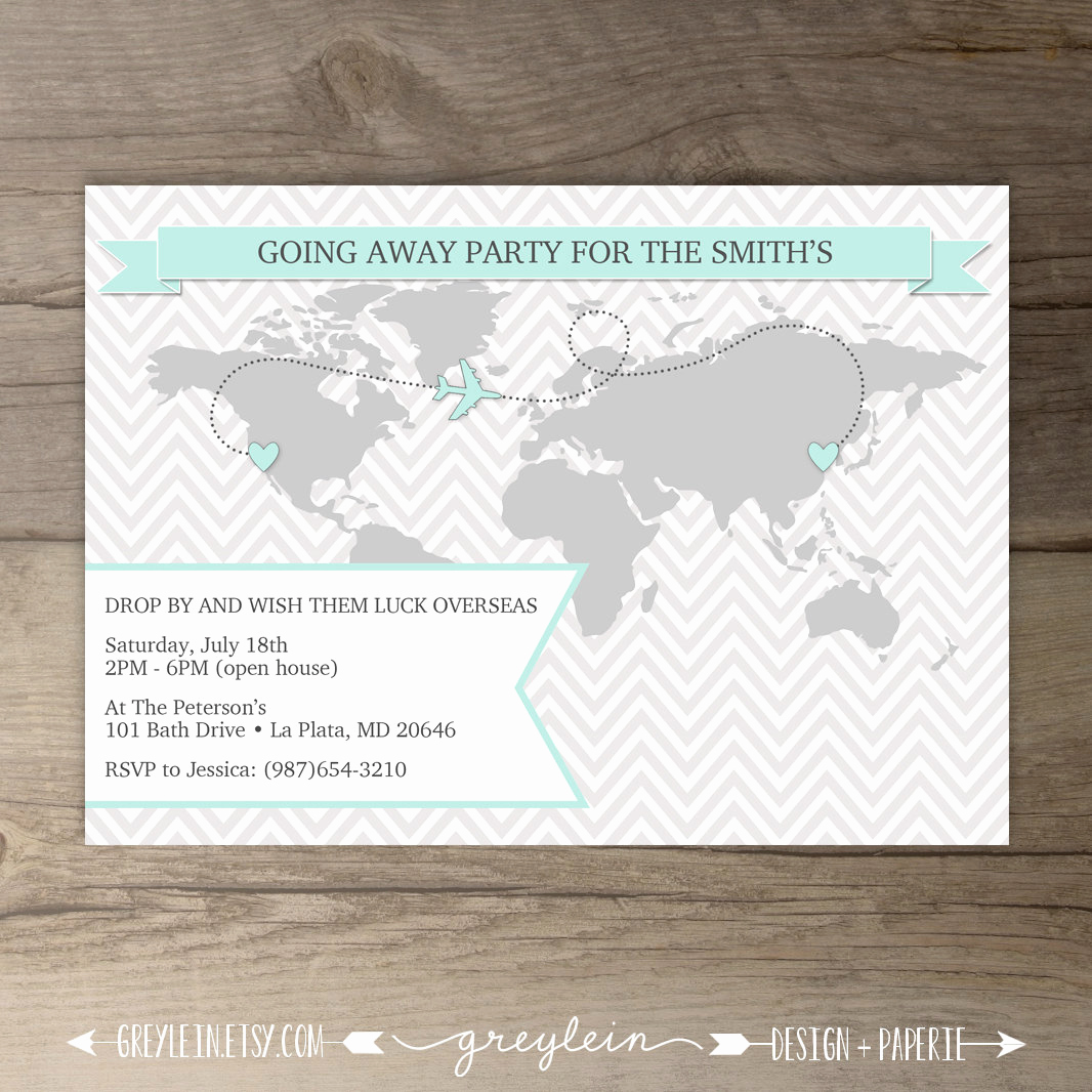 Going Away Party Invitation Fresh Going Away Party Invitations World Map Goodbye Party Invites
