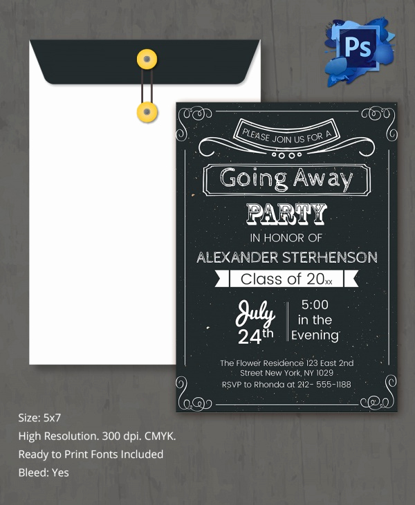 Going Away Party Invitation Fresh Sample Invitation Template Download Premium and Free
