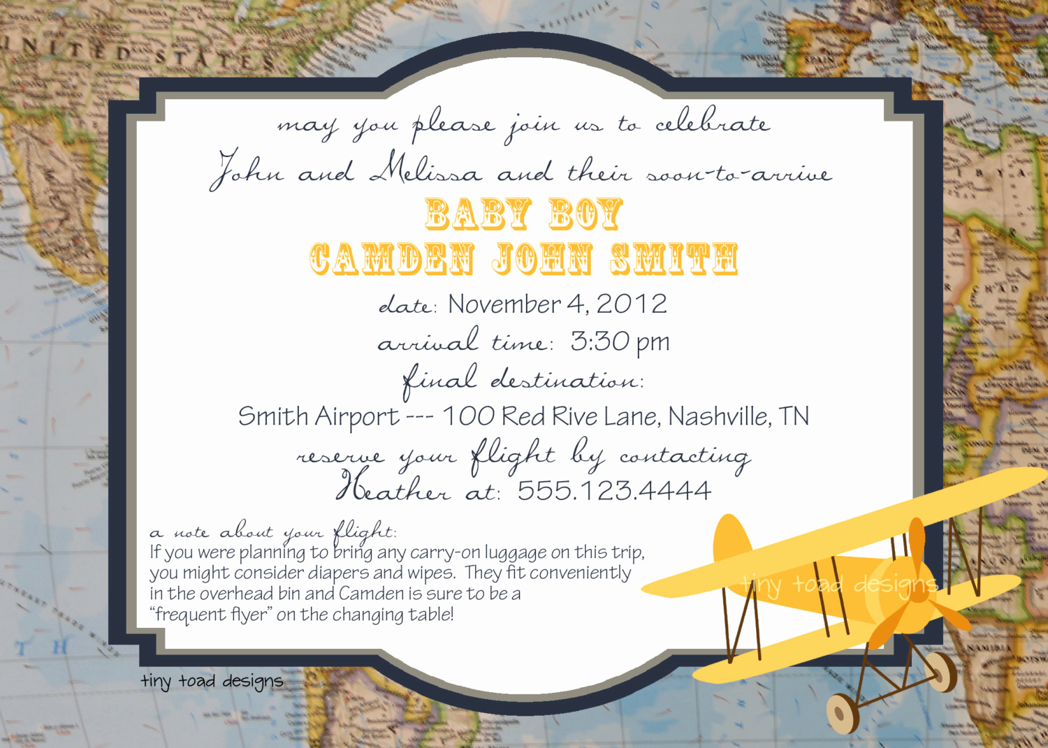 Going Away Party Invitation Inspirational Aviation Map Baby Shower Invitations or Going Away Party