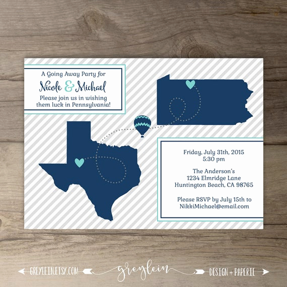Going Away Party Invitation Lovely Going Away Party Invitations Invites Moving Announcements