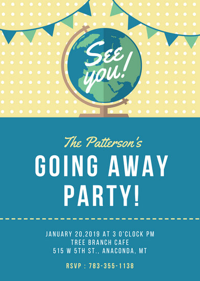 Going Away Party Invitation Template Beautiful Farewell Party Invitation Templates Canva