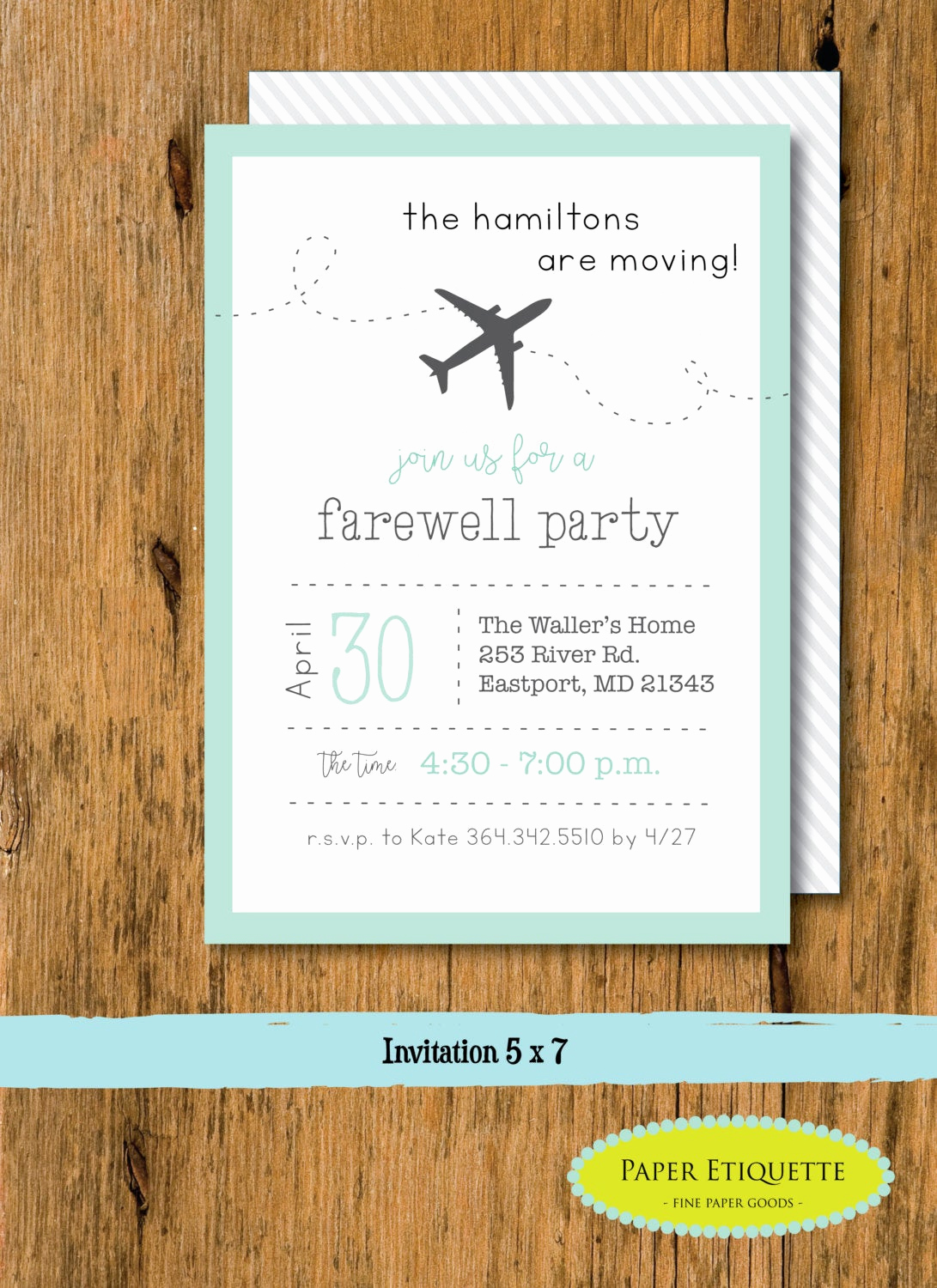 going away party moving party invitation