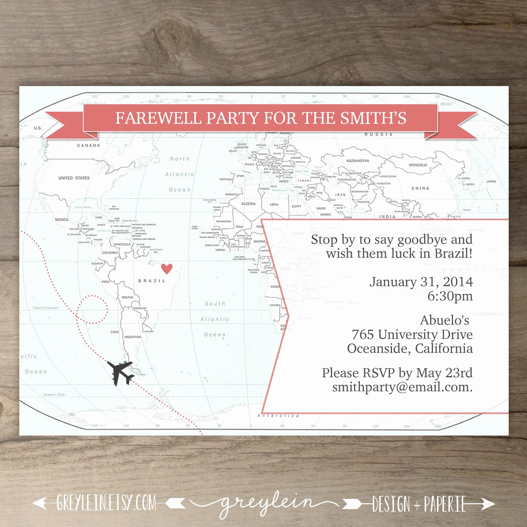 Going Away Party Invitation Wording Beautiful Going Away Party Invitations Goodbye Party Invites