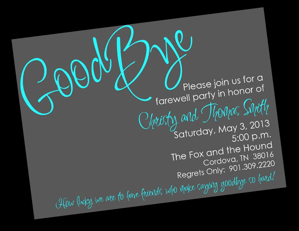 Going Away Party Invitation Wording Best Of Free Printable Invitation Templates Going Away Party