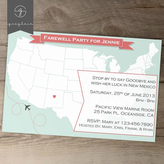 Going Away Party Invitation Wording Lovely Going Away Party Invitations Goodbye Party Invites