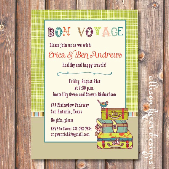 Going Away Party Invitation Wording New Boho Going Away Party Invite Printable Lime Green Suitcases