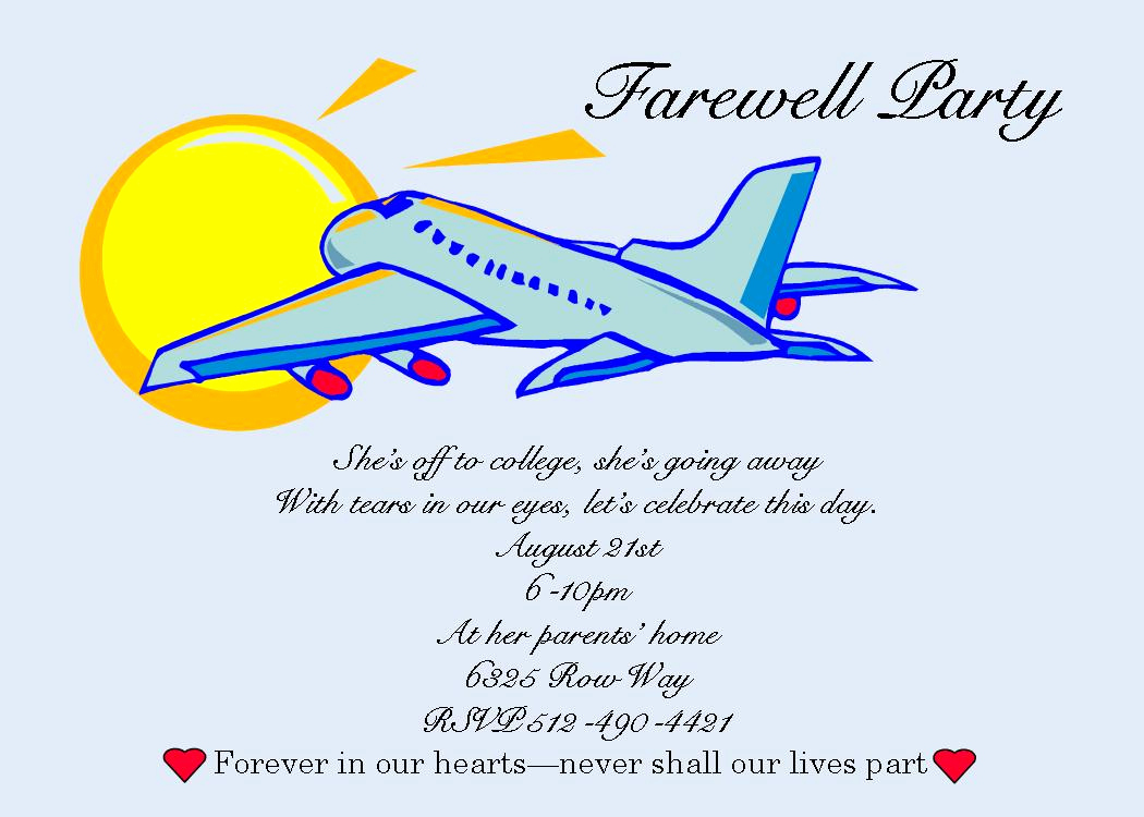 Going Away Party Invitation Wording New Free Printable Farewell Cards