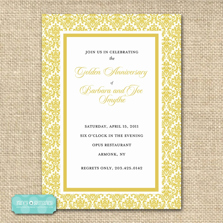 Golden Anniversary Invitation Wording Beautiful 17 Best Images About Golden Wedding On Pinterest
