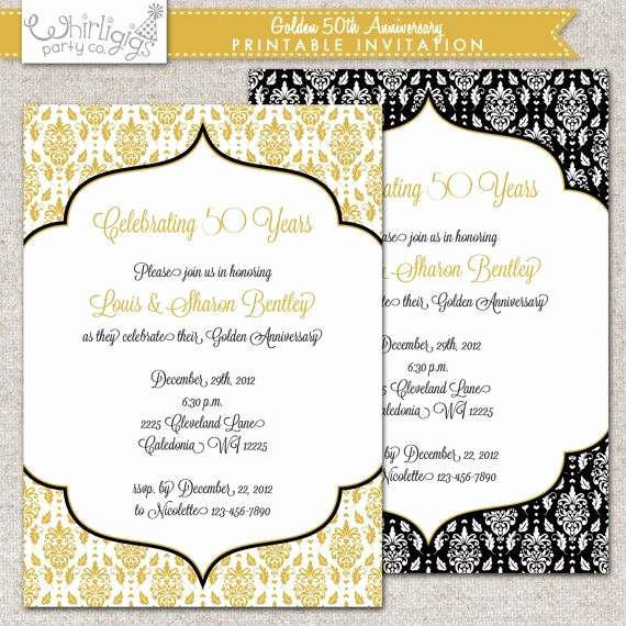 Golden Anniversary Invitation Wording Beautiful 50th Anniversary Invitation Golden Anniversary Invitation