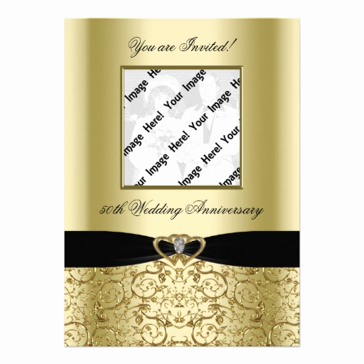 "Golden Anniversary Invitation Wording Best Of Golden Wedding Anniversary Invitation Card 5"" X 7"