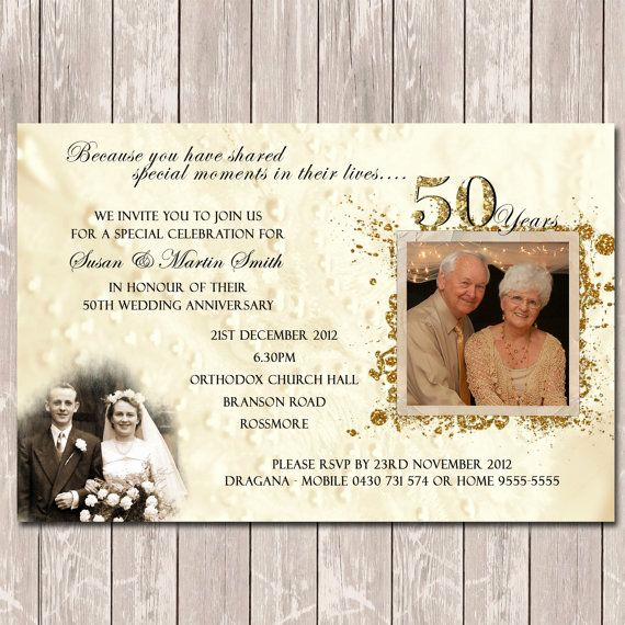 Golden Anniversary Invitation Wording Elegant 25 Best Ideas About Anniversary Invitations On Pinterest