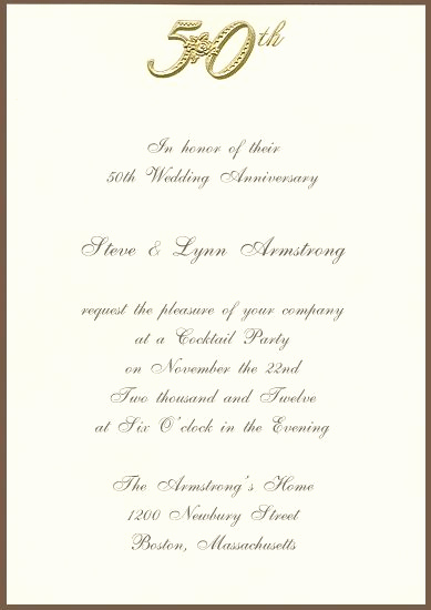 Golden Anniversary Invitation Wording Fresh Printable 50th Golden Anniversary Invitation